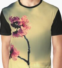 Pink Blossoms And Vase Graphic T-Shirt