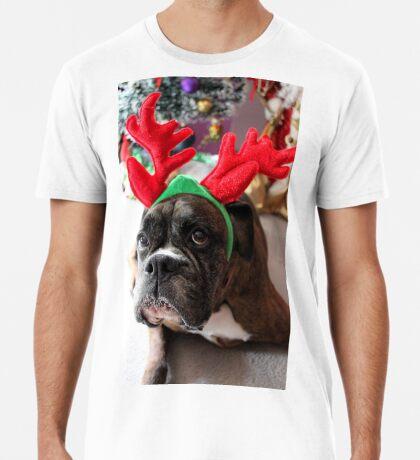 Rentier dieses Jahr? ...... Alles für dieses Plätzchen! - Boxer-Hunde-Reihe Premium T-Shirt
