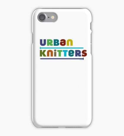 Urban Knitters - blues iPhone Case/Skin