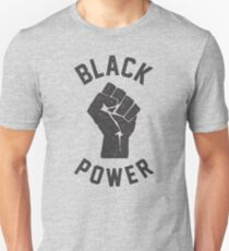 Black Power Fist Grunge Unisex T-Shirt