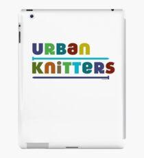 Urban Knitters - blues iPad Case/Skin