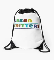 Urban Knitters - blues Drawstring Bag