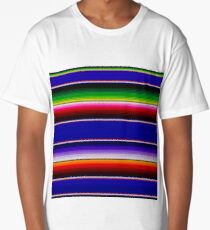 Mexican Poncho Background Long T-Shirt