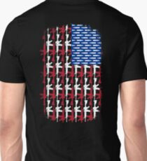 AR15 RIFLES AND BULLETS USA FLAG Unisex T-Shirt