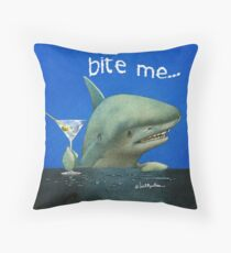 bite me... Throw Pillow