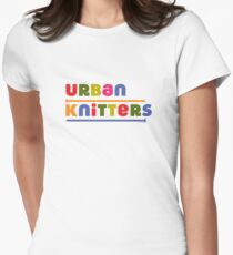 Urban Knitters - golden Womens Fitted T-Shirt