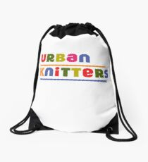 Urban Knitters - golden Drawstring Bag