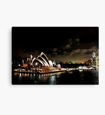 Opera House At Night Canvas Print