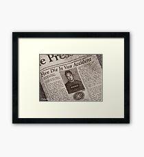 Never Kill A Boy on the First Date - BtVS Framed Print