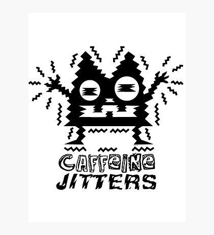 caffeine jitters - cat Photographic Print