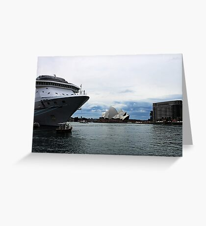 Opera House View and Ship - Circular Quay Greeting Card