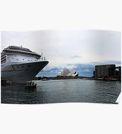 Opera House View and Ship - Circular Quay Poster