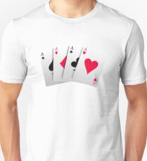 four aces game cards T-Shirt