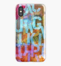 Alphabet Stencil iPhone Case/Skin