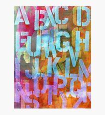 Alphabet Stencil Photographic Print