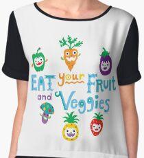 eat your fruit and veggies ll  Chiffon Top