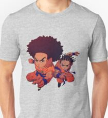 The Boondocks-Dragon Ball Z-Huey Freeman-Riley Freeman Unisex T-Shirt
