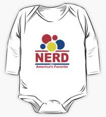 nerd alert white  One Piece - Long Sleeve
