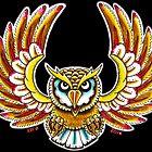 Flying Owl color - Art By Kev G by ArtByKevG