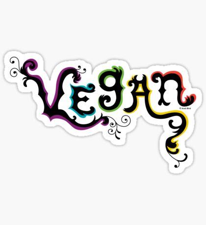 Vegan t shirt Sticker