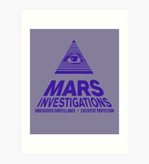Mars Investigations Art Print