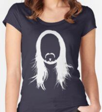 Steve Aoki White Head (For dark shirts) Women's Fitted Scoop T-Shirt