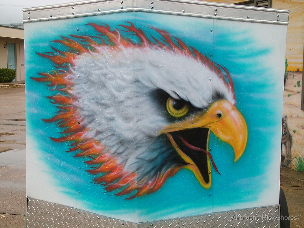 eagle on cargo trailer by Airbrushr  Rick Shores