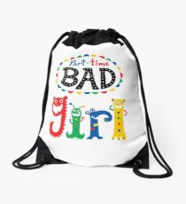 part time bad girl  Drawstring Bag