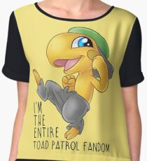 I am the entire toad patrol fandom Chiffon Top