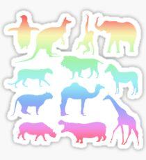 Wild Animals - Neon Sticker