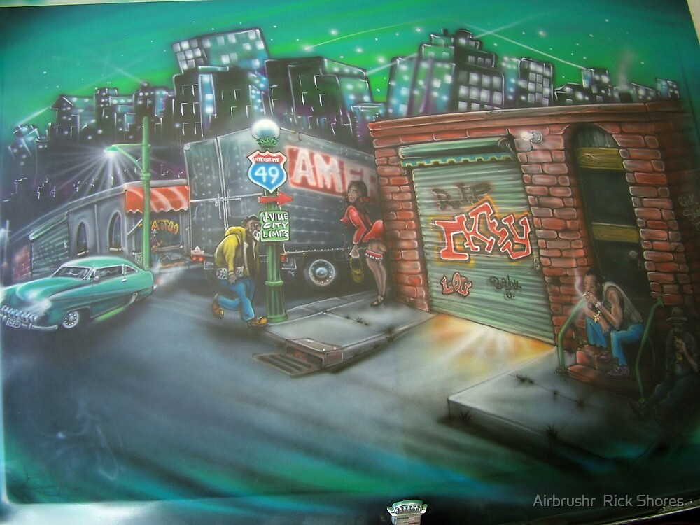 airbrushed  on trunk by Airbrushr  Rick Shores