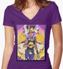 YGO - Marigold Women's Fitted V-Neck T-Shirt