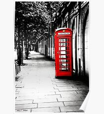 London Calling - London Red Telephone Booth - Classic British Phone Box Poster