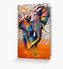 African Colours Greeting Card