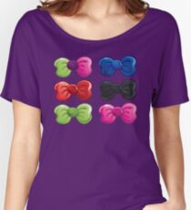 Colorful Ties Theme Women's Relaxed Fit T-Shirt