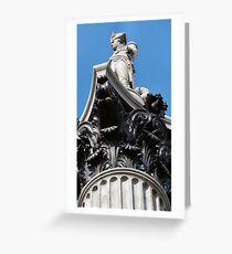 Nelson, Trafalgar Square, London, UK Greeting Card