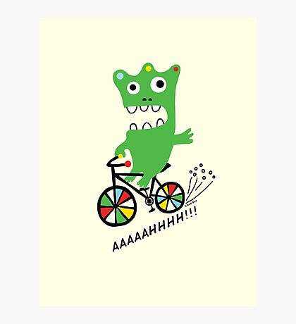 Critter Bike maize Photographic Print