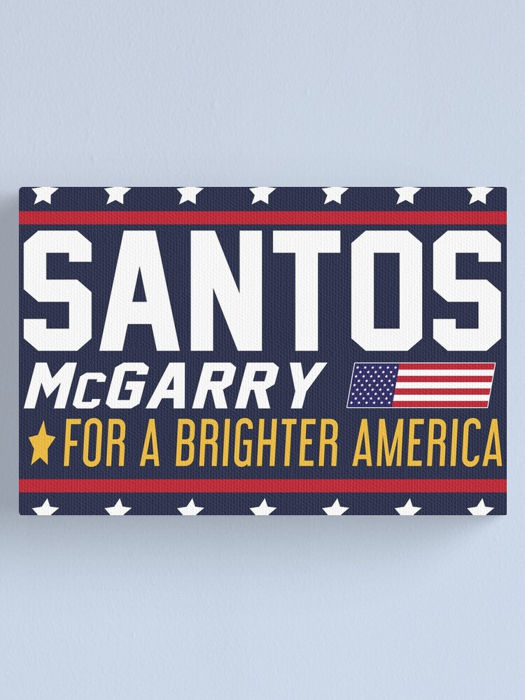 Alternate view of Santos and McGarry Campaign Poster from West Wing Canvas Print