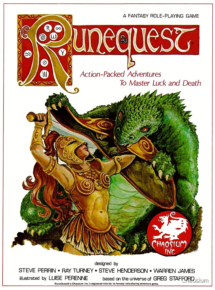 RuneQuest 2 Cover  by Chaosium