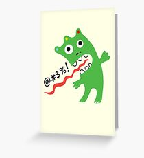 Critter Expletive maize Greeting Card