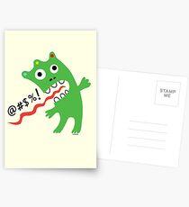 Critter Expletive maize Postcards