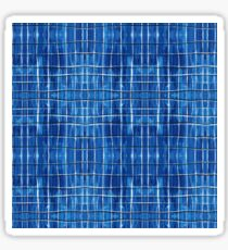 Blue Plaid Sticker