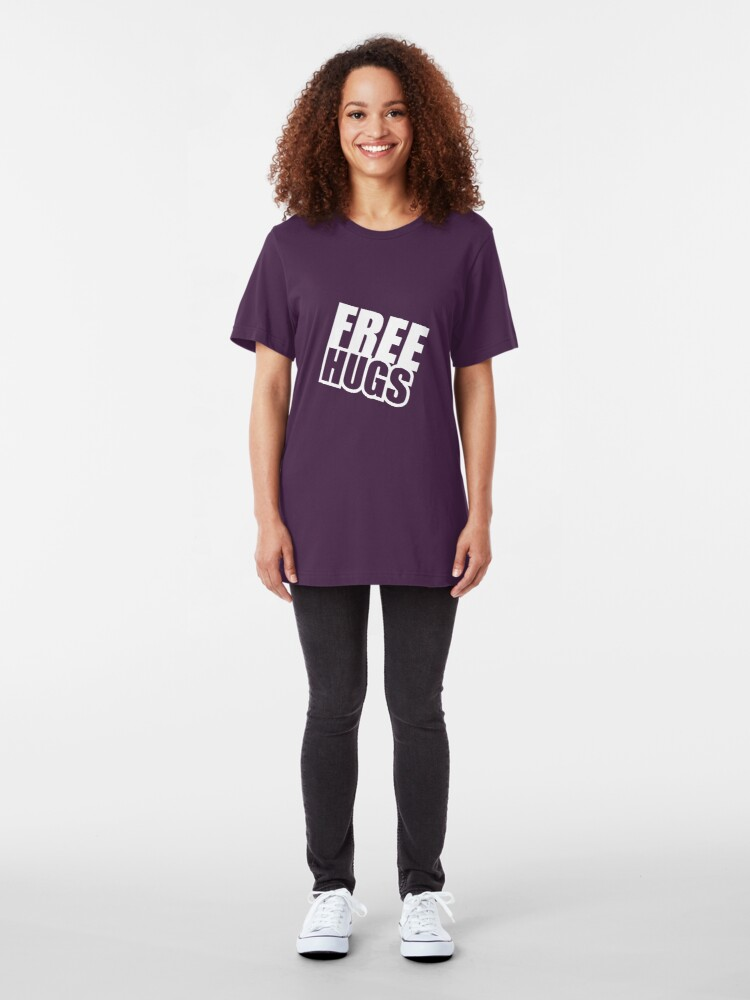 Alternate view of Free Hugs Slim Fit T-Shirt