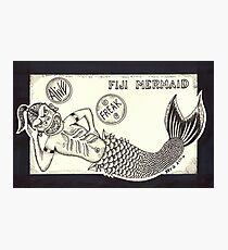 FIJI MERMAID - Art By Kev G Photographic Print