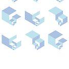 Fibonacci blue by Neil Godding