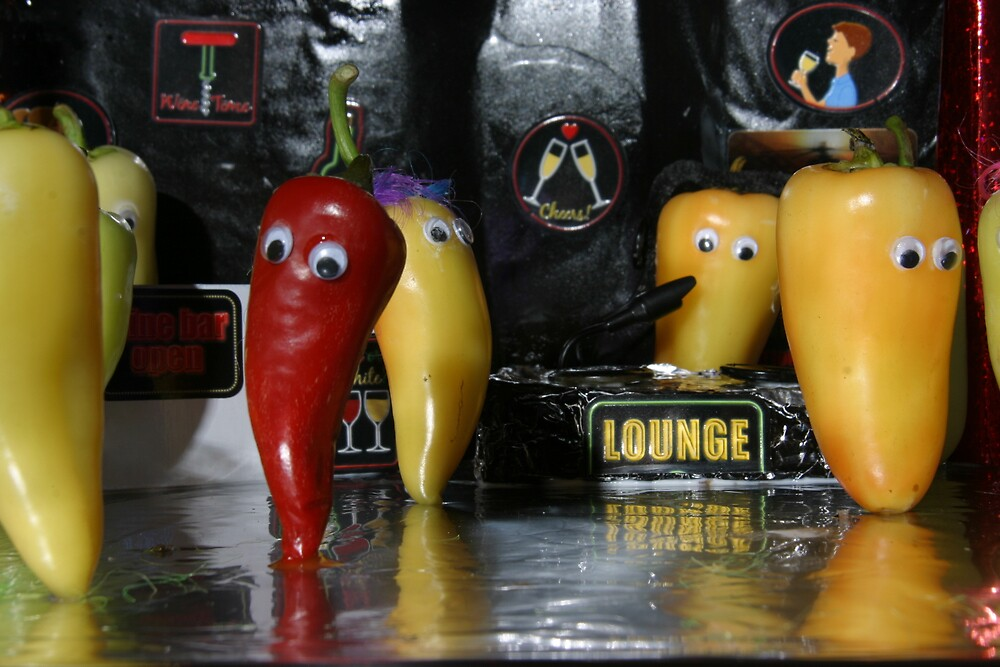 HOTT CHILI PEPPERS by mark anthony