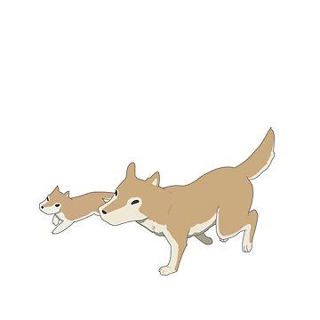 Nichijou- Japanese dogs(shiba inu) by neomeme