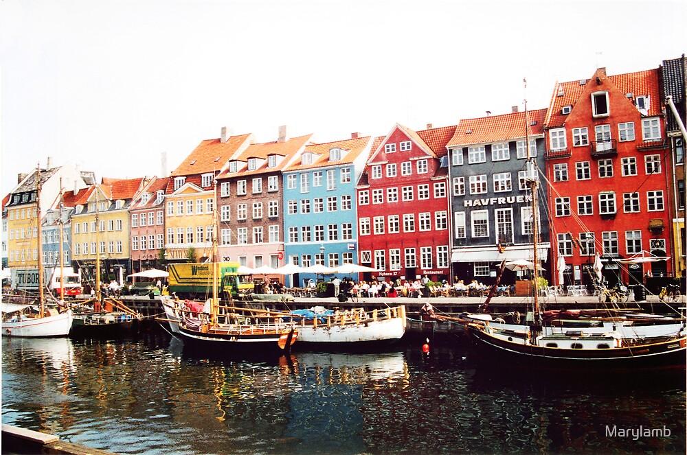 Canal Scene Copenhagen Denmark by Marylamb