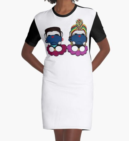 STPC: Naka Do & Oyo Yo (Sipping Tea) Graphic T-Shirt Dress