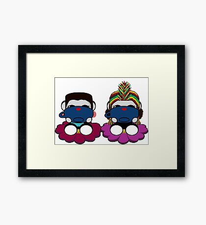 STPC: Naka Do & Oyo Yo (Sipping Tea) Framed Art Print